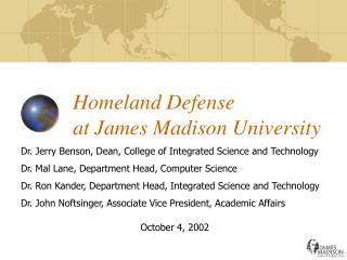 Homeland Defense at James Madison University