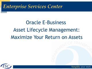 Enterprise Services Center