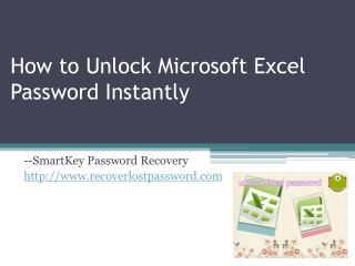 How to Unlock Microsoft Excel Password Instantly