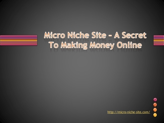 Micro Niche Site – A Secret To Making Money Online