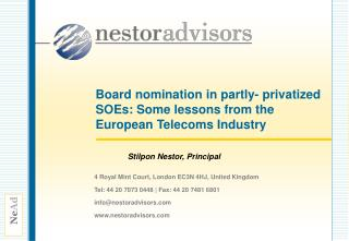 Board nomination in partly- privatized SOEs: Some lessons from the European Telecoms Industry