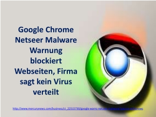 Google Chrome Netseer Malware Warnung blockiert Webseiten, F
