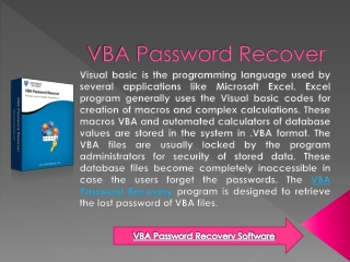 VBA Password Recover