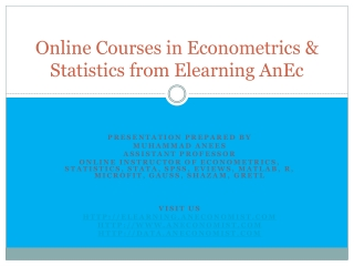 Econometrics Courses Online