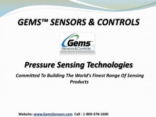 Gems™ Sensors & Controls - Pressure Sensors