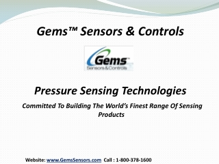 Gems� Sensors & Controls - Pressure Sensors