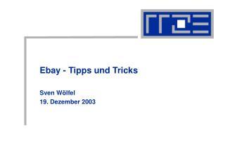 Ebay - Tipps und Tricks