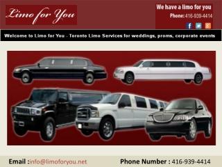 Toronto Limousine Service,Niagara Falls Limo Service.