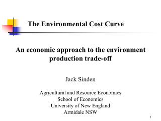 The Environmental Cost Curve