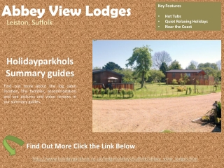 Log Cabins in Suffolk at Abbey View Lodges