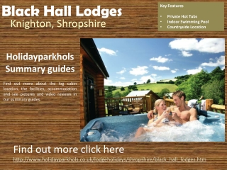 Lodge Parks in Shropshire Black Hall Lodges