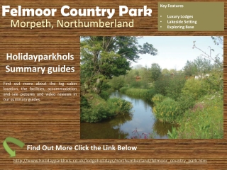 Lodges in Northumberland at Felmoor Country Park
