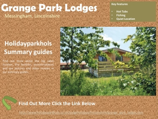 Lodge Parks in Lincolnshire Grange Park Lodges