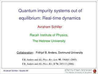 Equilibrium: Real-time dynamics