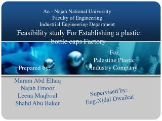 Feasibility study For Establishing a plastic bottle caps Factory