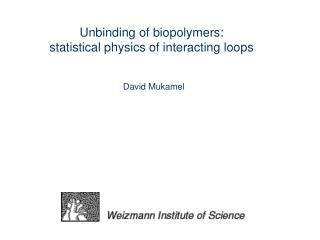 Unbinding of biopolymers: statistical physics of interacting loops