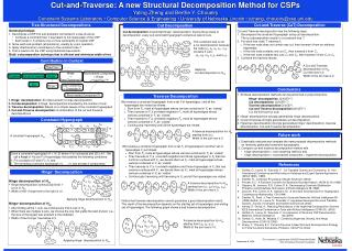 Cut-and-Traverse: A new Structural Decomposition Method for CSPs Yaling Zheng and Berthe Y. Choueiry Constraint Systems