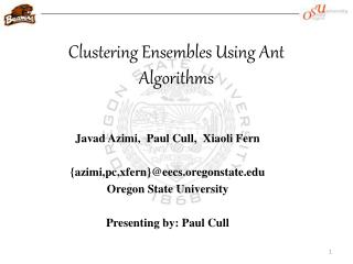 Clustering Ensembles Using Ant Algorithms