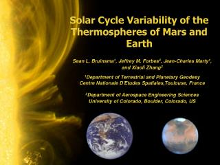 Solar Cycle Variability of the Thermospheres of Mars and Earth