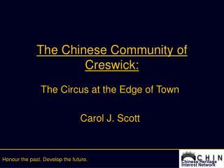 The Chinese Community of Creswick: