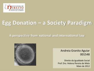 Andreia Granito Aguiar 001548  Direito da Igualdade Social Prof. Dra. Helena Pereira de Melo Maio de 2012