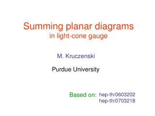 Summing planar diagrams in light-cone gauge