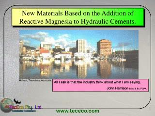 New Materials Based on the Addition of Reactive Magnesia to Hydraulic Cements.