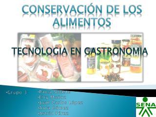 CONSERVACI N de los alimentos