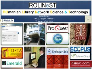 ROmanian Library Network Science  Technology