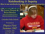 Notebooking  Inquiry  How to use notebooks for upper level science instruction