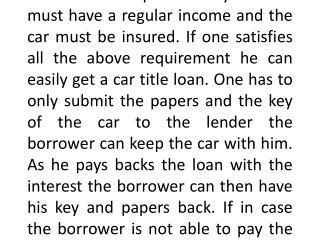 Car Title Loans Utah