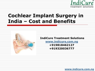 Cochlear Implant Surgery in India - Cost and Benefits