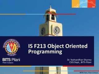 IS F213 Object Oriented Programming
