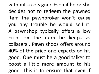 Pawnbrokers London