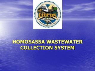 HOMOSASSA WASTEWATER COLLECTION SYSTEM