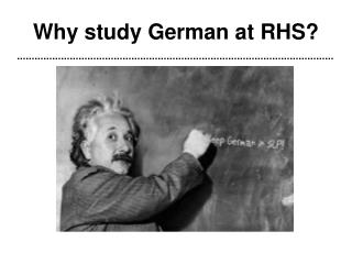 Why study German at RHS