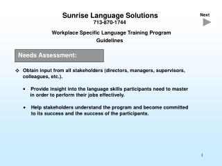 Sunrise Language Solutions