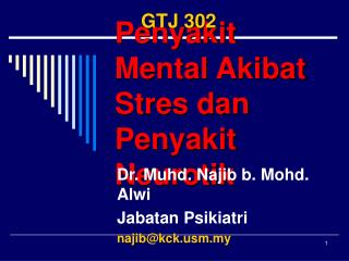 Penyakit Mental Akibat Stres dan Penyakit Neurotik