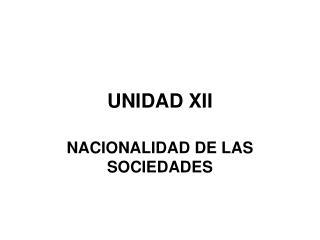 UNIDAD XII