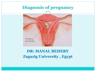 Diagnosis of pregnancy &antenatal care