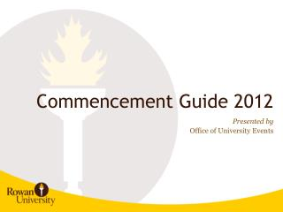 Commencement Guide 2012