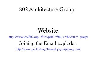 802 Architecture Group