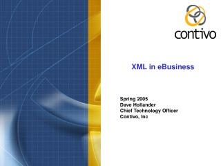 XML in eBusiness