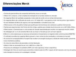 Diferencia  es Merck