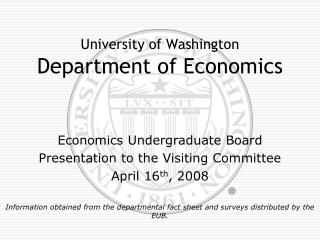 University of Washington  Department of Economics