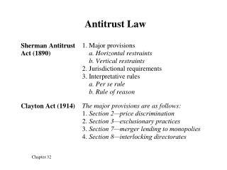Antitrust Law