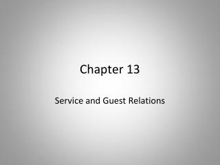 Service and Guest Relations