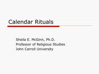 Calendar Rituals
