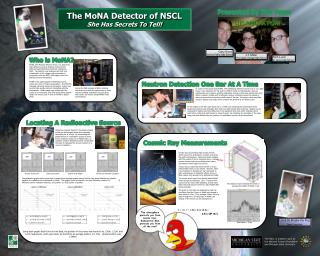 The MoNA Detector of NSCL She Has Secrets To Tell