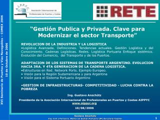 Gesti n Publica y Privada. Clave para Modernizar el sector Transporte